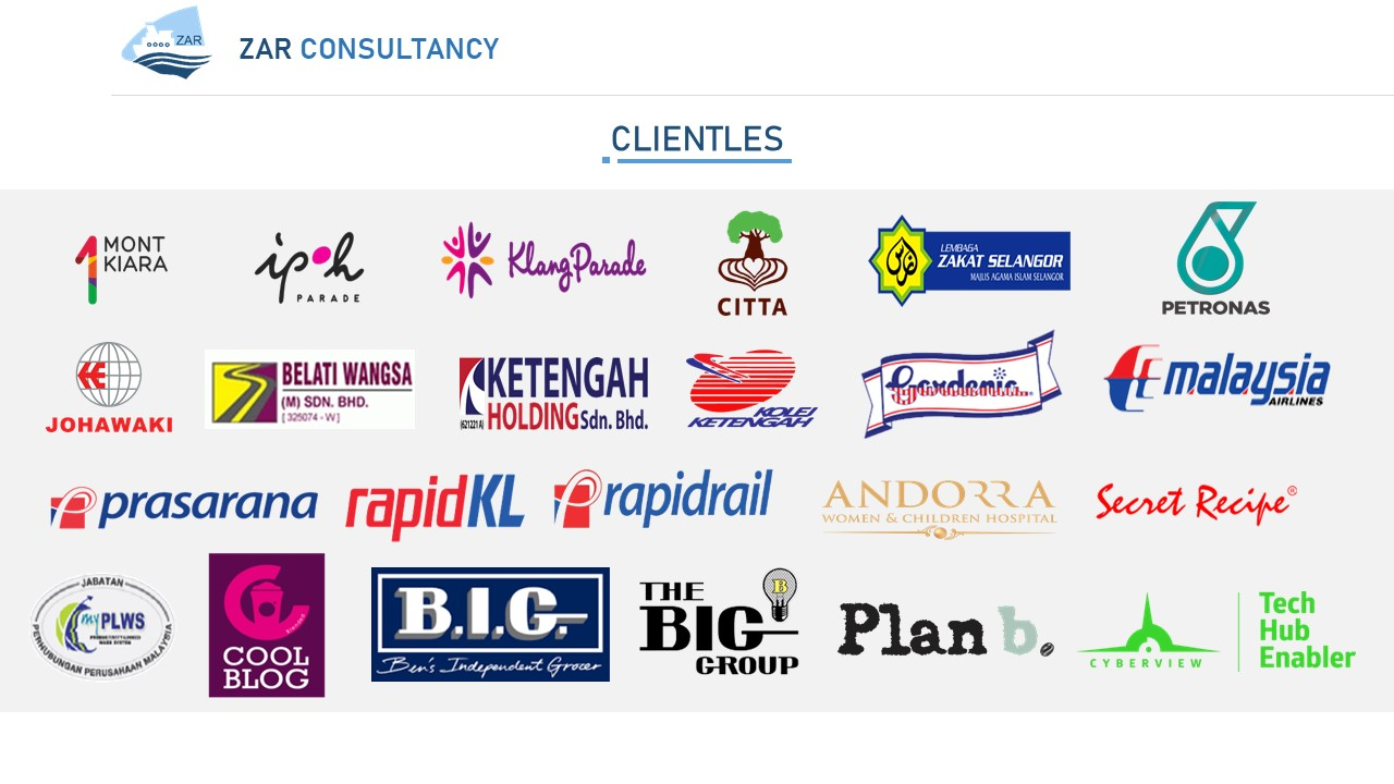ZAR Consultancy Clientele
